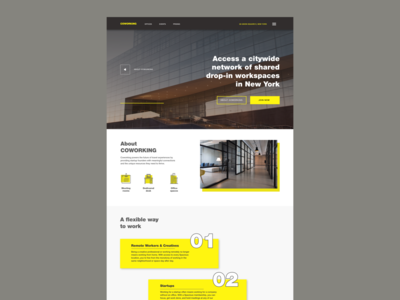 Concept web site for Coworking