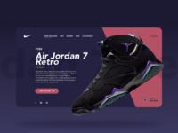 Air Jordan Landing page