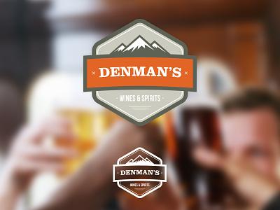 Branding Project: Denman's  borders beer wine spirits branding logo flat blur mountains typography boutique drinks people enclosure badge orange vancouver shape grid