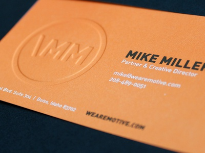 Motive Business Cards