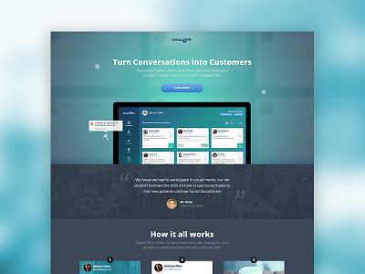 SocialCentiv Landing Page product ux ui twitter marketing offer responsive design web landing incentive trial