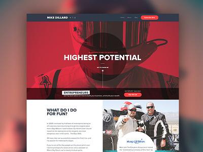 Website Redesign energy red entrepreneur design clean typography photography marketing landing web twitter facebook
