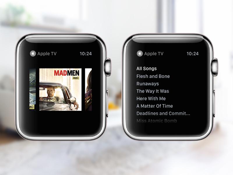 Apple TV Apple Watch Concept design ux ui watch concept interface mobile icon app madmen amc shows