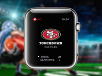 Apple Watch NFL Game Tracker Concept