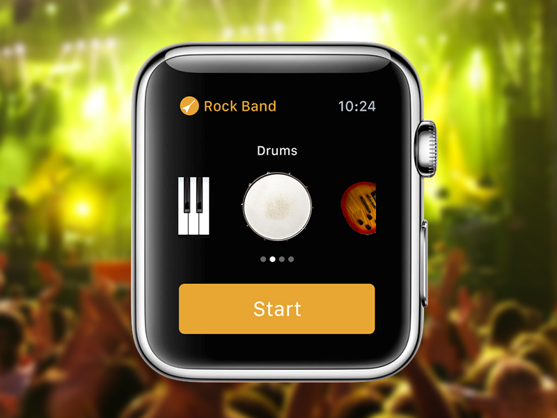 Apple Watch Rock Band Concept apple concept design icon mobile watch instruments band music ui ux app