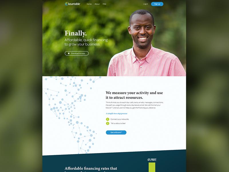 kountable Website Design logo branding typography iconography social financing responsive mobile illustration ui ux design