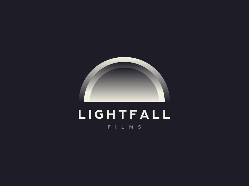 LightFall Films Logo v2.0 creative logo film cinematic icon vector illustration branding design typography