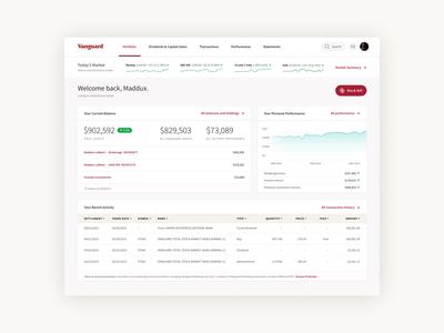 Vanguard Dashboard Redesign