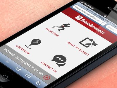 RehabAuthority Mobile Website