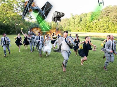 Rebel Wedding star wars photoshop empire tie fighter wedding