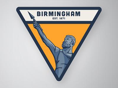 Vulcan patch iron steel magic city alabama birmingham vulcan