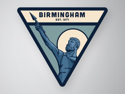 Vulcan variation vulcan steel patch magic city iron birmingham alabama