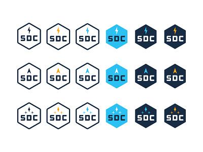 Stuckey Design Company badge hexagon initials stars logo company design