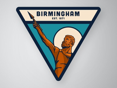Vulcan variation 02 patch iron steel magic city alabama birmingham vulcan