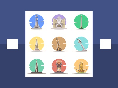 monument in indonesia part 2 vector illustration vectors design building colorfull illustration flat illustration flatdesign vector illustrator illlustration flat cartoon