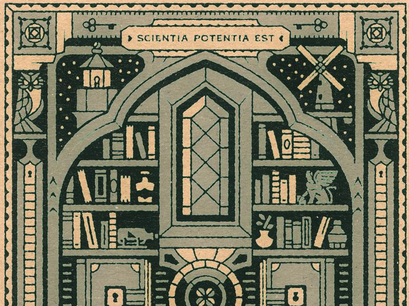 The Shelf plant window architecture mystery shelf bookshelf lock books stars windmill lighthouse keys code owl