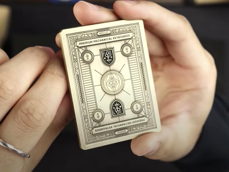 Brass UV Code engraved metal brass cipher grid card cards line