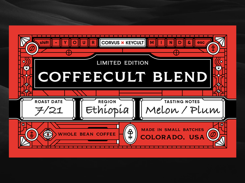 keycult coffee sticker packaging buttons keyboard key label coffee