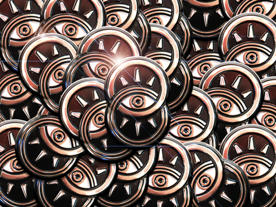 Pins! gold metal seeker enamel pin