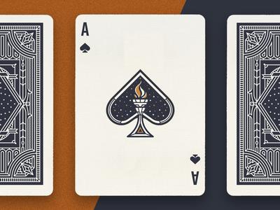 Light fire cards spade ace torch