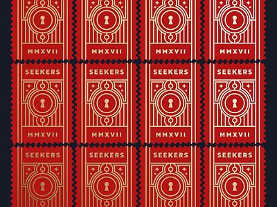 Sealed seal stamp cards seek lock key roman