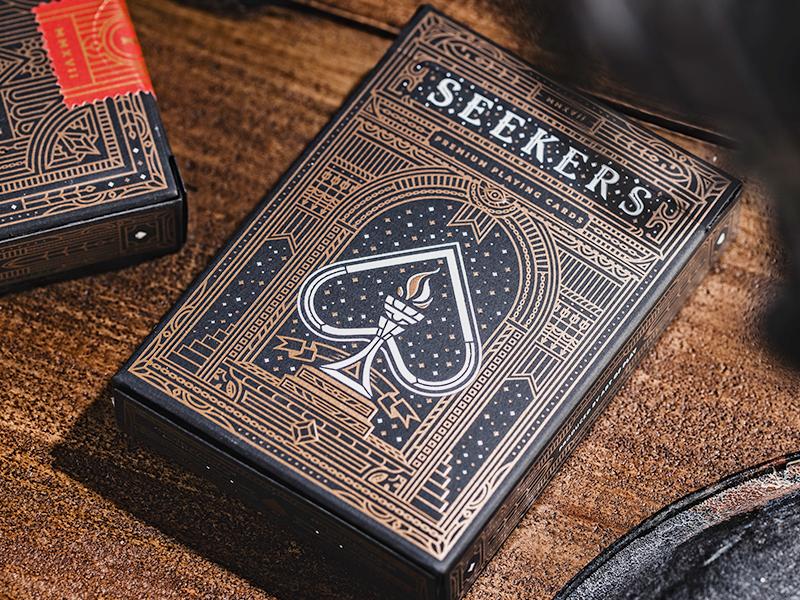 Seekers arrows spade club diamond gate door ace playing cards seekers letterpress