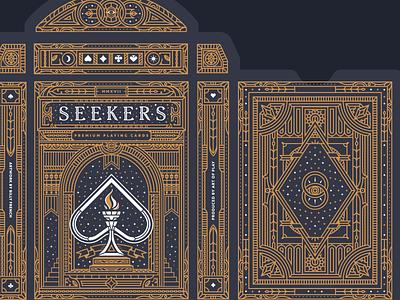 Seekers Box diamond spade club heart detail playing cards box