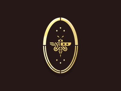 Fight or Flight Badge honey flight fight bee badge