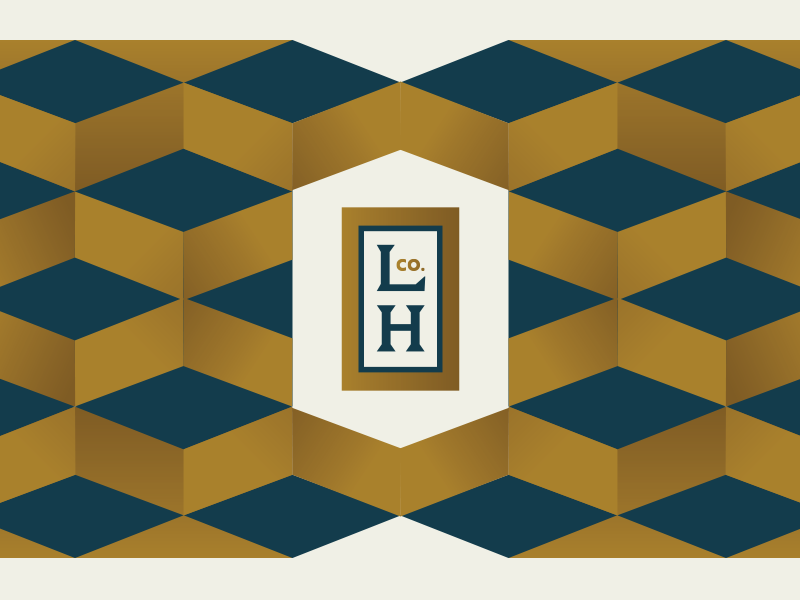 LHco badge pattern branding