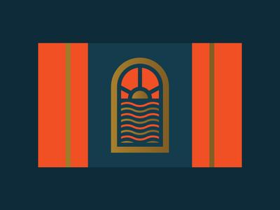 Red Sky at Night, Sailor's Delight voyage sailor sea sun sky emblem flag