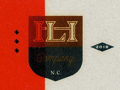 Inked ink flag badge