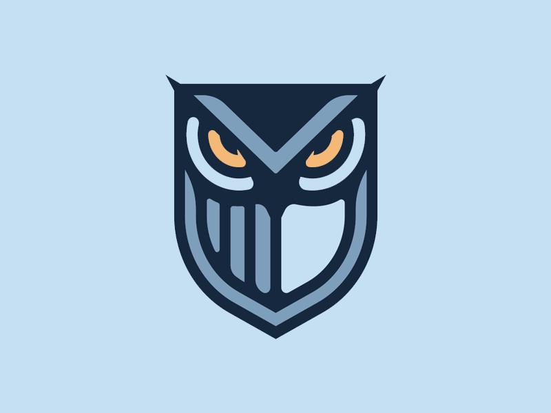 Owl Mark security wisdom strength eyes vision shield owl