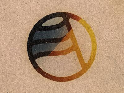 Prevail ink flag sun logo mark prevail