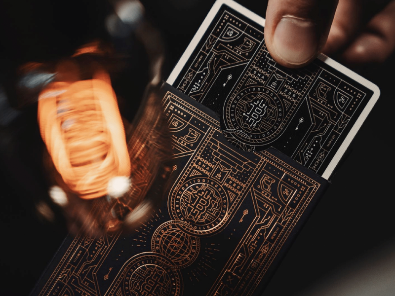 Dark Edition blockchain deck packaging world key playing cards bitcoin