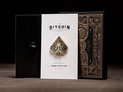 Ace of Bitcoin cryptocurrency kickstarter enamelpin enamel ace bitcoin