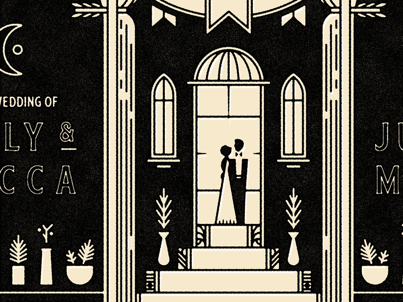 Wedding plants bride groom save the date invite wedding