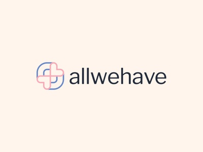 Allwehave Logo minimalist modern company logo brand fashion clothing love heart rainbow logo design