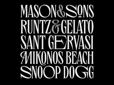 Bourbon St. Typeface glyphsapp hype ligatures fonts collection type designer type design fonts