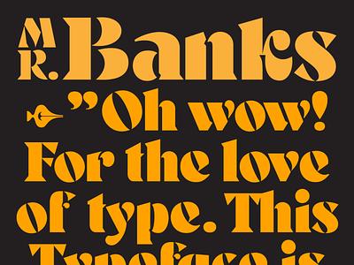 Mr Banks type designer typedesign free font font shop fonts typeface