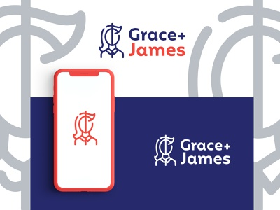 Grace James branding concept design logo illustrator branding and identity vector minimal icon flat branding