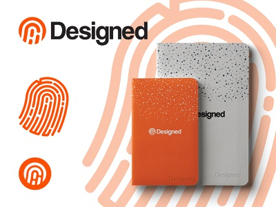 Designed.Org Branding Proposal sketchbook books mockup print fingerprints fingerprint branding concept logo design illustrator branding and identity vector minimal icon flat branding