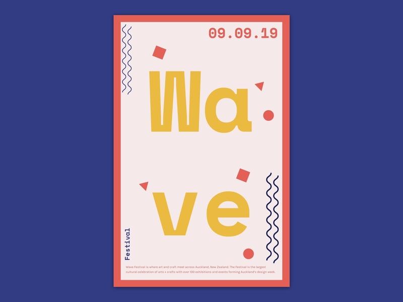 Poster design for wave festival festival concept design sketch ui visualdesign visual poster poster design posters poster art