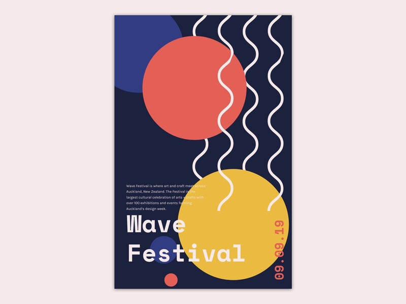 Poster design for wave festival concept design visual design typography sketch ui poster poster art festival design poster design festival