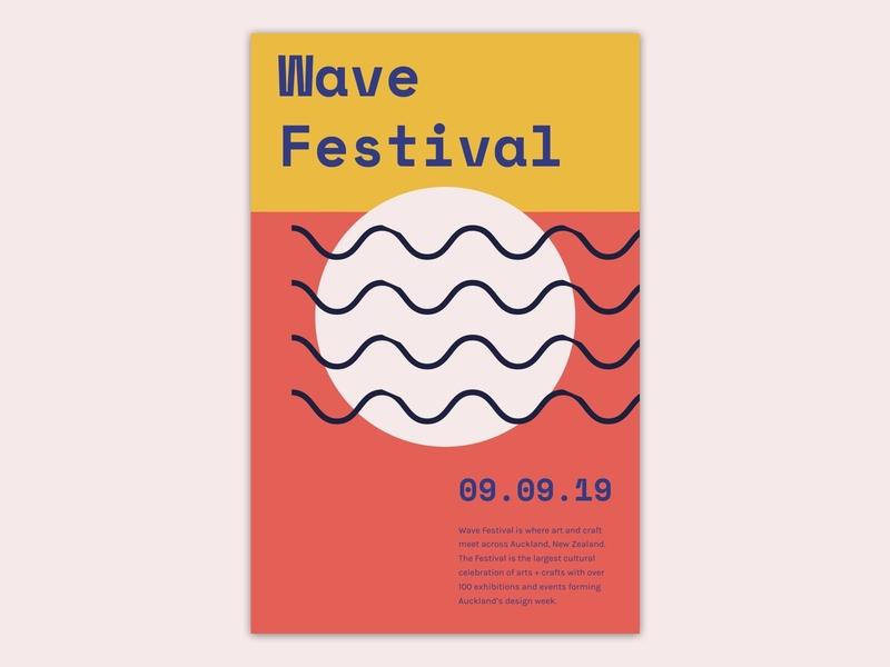 Poster design for wave festival design principles typography branding festivals visual design concept ui design sketch wave festival design poster design poster festival