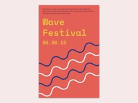 Poster design for wave fesitval