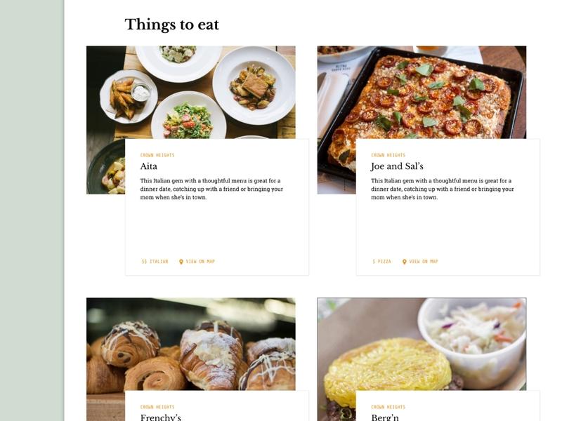 New York City Guide concept 1 pizza eat visual design ux concept design ui figma