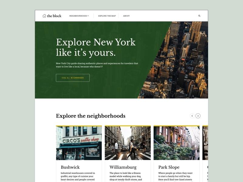 New York City Guide concept newyork figma visual design ux concept design ui
