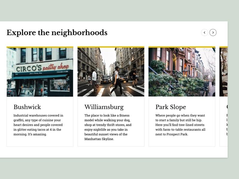 New York City Guide concept carousel newyork figma visual design ux concept design ui