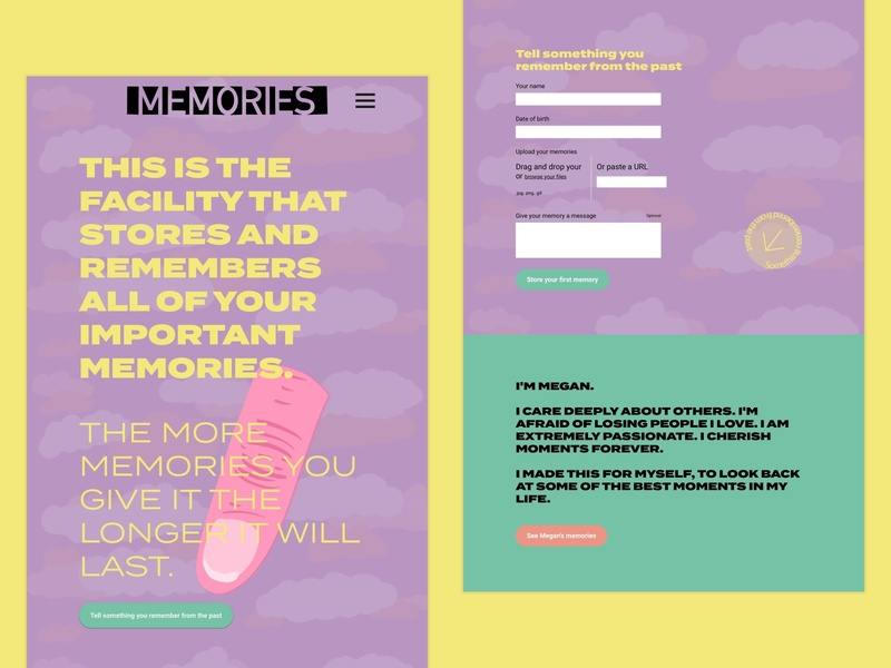 Memory maker concept 2 button form memory memories ux procreateapp illustration concept sketch design ui