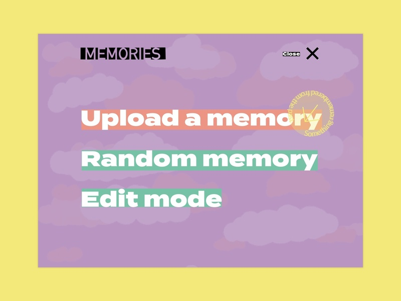 Memory maker concept 2 close memories navigation menu visual design ux procreateapp illustration concept sketch design ui